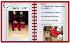 Θα σε κάνω Μαγείρισσα!: Λικέρ Ρόδι Drinks, Blog, Recipes, Drinking, Beverages, Drink, Blogging, Ripped Recipes