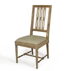 Bliss studio SE-6502 Gustav Chain Design Chair W 20 D 19.5 H 42.5 SH 20 $595 Sold In Pairs #OpenBack