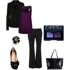 Racer Back Vest, Deep purple, Warehouse Blazer, Warehouse Multi Pleat Workwear Trousers, Black, Open toe satin pumps