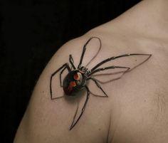 Small Spider Shoulder Tattoo - http://tattooideastrend.com/small-spider-shoulder-tattoo/ - #Shoulder, #Spider, #Tattoo