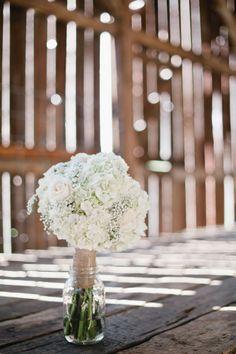 Hydrangeas, Babies Breath & Roses, bridal bouquet