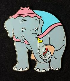 RARE VHTF Disney Shopping Pin Mothers' Day Mrs Jumbo & Dumbo LE 250 OC