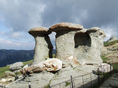 """The Crones - Natural Carvings. Also known as the """"Ciclopic altars of the Caraiman"""". The """"altars"""" were dedicated to the Earth, the Sky, the Sun, the Moon and to Mars, the roman god of War and Agriculture."""