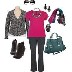 Berry Beautiful- Plus Size Outfit, created by boswell0617 on Polyvore