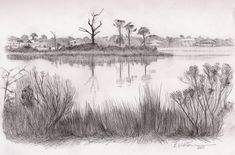 Landscape Drawings In Pencil |