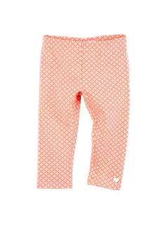 Girls Essentials Emily 3/4 Length Printed Leggings Coral leggings