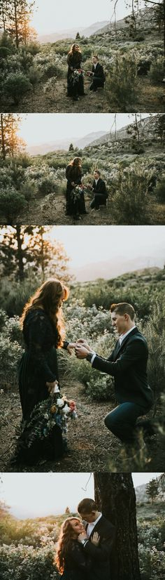 She turned around to see him down on one knee waiting to propose! It was the best surprise during their photoshoot, and the pictures are stunning.