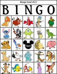 bingo de personajes disney para imprimir gratis bingofree printabledisney cruiseplanlibrary gamescartoonchildren - Childrens Games Free Disney
