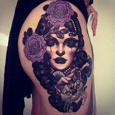 Love this purple tattoo♥