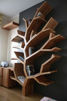 Librero Árbol, fabricación a medida.