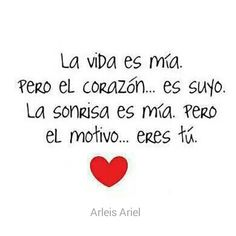 Card love messages: quotes, images, for him, her, Love Phrases, Love Words, Ex Amor, Frases Love, Quotes En Espanol, More Than Words, Spanish Quotes, Romantic Quotes, All You Need Is Love