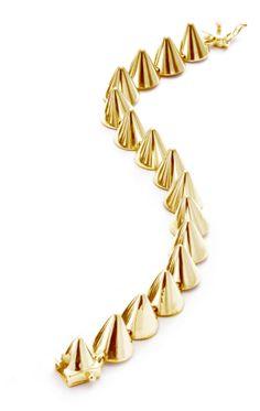 Nov 2013-Gold Cone Bracelet by Eddie Borgo | Charm & Chain