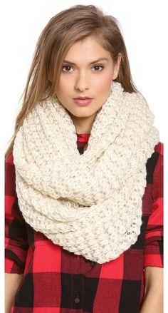 Paula Bianco Chunky Knit Wrap Scarf on shopstyle.com