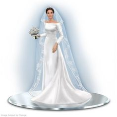 Her Royal Highness Meghan Duchess Of Sussex Figurine - Decorative Figurines - Gifts By Category Prince Charles And Diana, Prince Harry And Meghan, Royal Brides, Royal Weddings, Wedding Dress Sketches, Wedding Dresses, Royal Wedding Gowns, Lady Diana, Harry Wedding