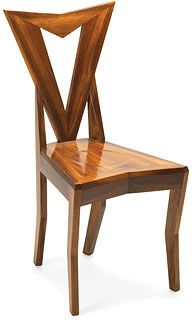 The Janak chair, 1911  Pavel Janak (1882–1956)  solid stained beech frame,   walnut veneered seat    W 44 cm D 49 cm H 92 cm