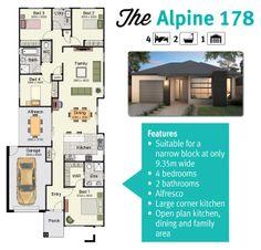The Alpine 178 Is Great Floor Plan For Narrow Blocks Of Land