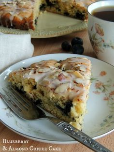 Simply delicious Blueberry & Almond Coffee Cake