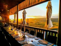 Most spectacular sunsets are seen from Emily Moon's restaurant Holiday Places, South Africa, Exterior, Candles, Culture, Table Decorations, Sunsets, Restaurants, Hotels