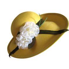 Fortnum and Mason wide brim straw yellow hat Phillip Somerville