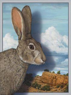 "SFAA12 Palmore, Tom ""Rabbit Looking at Mountain Landscape"".jpg (1000×1338)"