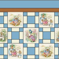 free quilt patterns with panels | Printed Panels for Alternate Blocks in a Single Irish Chain Quilt ...