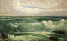 William Trost  Richards Breakers Oil Painting repro #Realism