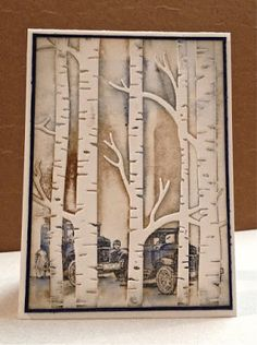 distINKtive STAMPING designs: Woodland Cars: Embossing Folder - Male Card