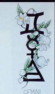 Gemini tattoo idea