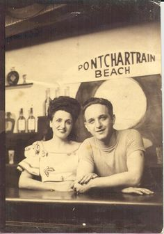 Pontcharatrain Beach - New Orleans in the My mother and father. Streetcar Named Desire, Murder Mysteries, Mother And Father, French Quarter, Ghosts, Louisiana, New Orleans, 1940s, Mid Century