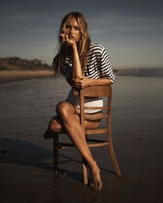 Top model Romee Strijd graces the June 2017 cover of Vogue Netherlands. Photographed by Jan Welters, the blonde beauty poses at the beach wearing a knit sweater. In the accompanying spread, Romee models relaxed ensembles styled by Martien Mellema. The face of Michael Kors shines in a mix of casual tees, oversized jumpsuits and lightweight...[Read More]