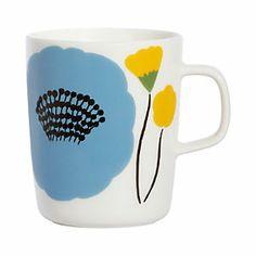 Marimekko Ahonlaita Multicolor Mug Add the freshness of budding blossoms to your morning cup of coffee with the Marimekko Ahonlaita Mug. Inspired by a summery meadow's edge, Aino-Maija Metsola's Ahonlaita pattern adorns this sturdy porc. Marimekko, Scandinavia Design, Cool Mugs, China Art, Ceramic Painting, Painted Ceramics, Crate And Barrel, Decoration, Pottery