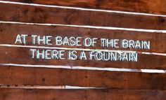 At the base of the brain is a fountain