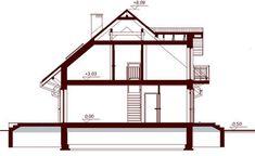 DOM.PL™ - Projekt domu DN KARMELITA BIS 2M CE - DOM PC1-47 - gotowy koszt budowy Loft, House, Furniture, Home Decor, Country Houses, Decoration Home, Home, Room Decor, Lofts