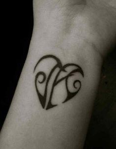 Initial tattoo name