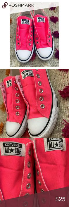 20c409bb1f52 Converse All Star Hot Pink sneakers no lace size 8