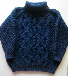 chompas de lana para niños con cuello Baby Boy Knitting Patterns, Crochet Baby Cardigan, Baby Cardigan Knitting Pattern, Knit Baby Sweaters, Knitted Baby Clothes, Knitting For Kids, Knitting Designs, Baby Knitting, Pulls