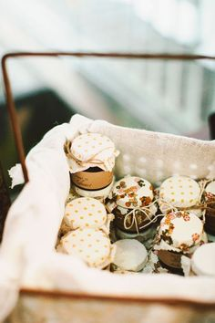 Can use Pumpkin or apple butter for a fall wedding. honey favors with pretty patterned tops Wedding Favours, Party Favors, Jam Favors, Autumn Wedding, Wedding Day, Wedding Tips, Wedding Details, Wedding Games, Budget Wedding