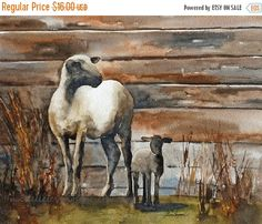 Nursery Room Decor / Baby Wall Art Sheep by rachellelevingston