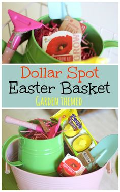 Unique easter basket for your 9 12 year old girls easter baskets garden easter basket from the dollar spot negle Choice Image