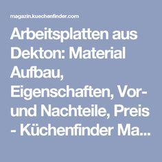 Arbeitsplatten aus Dekton: Material Aufbau, Eigenschaften, Vor- und Nachteile, Preis - Küchenfinder Magazin