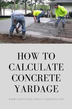 This pin will show you and help you calculate concrete yardage for any type of concrete project you have. It's both for professionals and beginners. Diy Concrete Slab, Concrete Forms, Concrete Driveways, Concrete Crafts, Concrete Projects, Concrete Countertops, Concrete Staining, Concrete Blocks, Repair Cracked Concrete