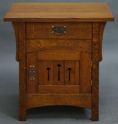 Arch door night stand, Arts and Crafts style by Dryad Studios (Fine Handmade Arts & Crafts Furniture Since 1985), www.dryadstudios.com
