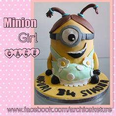 My Minion Girl Cake ❤️❤️ www.facebook.com/archicaketure