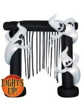 Airblown Inflatable Light-Up Ghosts Archway 7ft#partycity #halloween