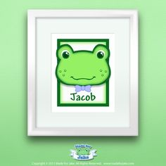 Frog Nursery Personalized Baby Boy Custom with Name Wall Art Print for Nursery or Kids Room Boy Nursery Bedding, Baby Boy Nursery Themes, Baby Boy Nurseries, Nursery Ideas, Nursery Art, Nursery Decor, Room Ideas, Bedroom Decor, Frog Nursery