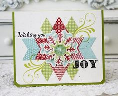 Wishing You Joy Card by Melissa Phillips for Papertrey Ink (September 2012)