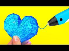 Incredible Things You Can Do With A 3D Pen - YouTube Diy Crafts For Girls, Fun Diy Crafts, Diy Arts And Crafts, Creative Crafts, 5 Min Crafts, 5 Minute Crafts Videos, Craft Videos, 3d Zeichenstift, Boli 3d