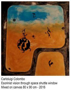 Painting, art, Riolo Terme, esorinism, Faenza, window, space shuttle