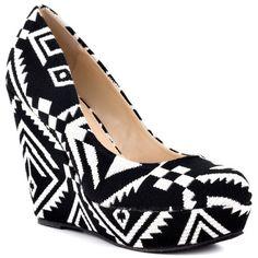 Shoemint Kristin - Aztec Multi: Shoemint: Wedge Shoes