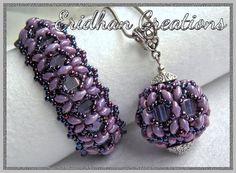"*P Beaded bracelet and pendant - ""Dragonfly"" - tutorial"